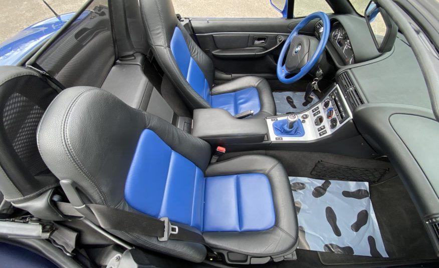 """BMW Z3 2.0L 150CH BLEU ESTORIL CAPOTE BLEUE """"INDIVIDUAL""""1ERE MAIN 58800 KMS!!!"""