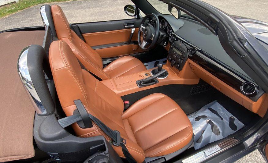"MAZDA MX5 NC 1.8L 126 CH ROADSTER CUIR ET CAPOTE ""FAUVE"" BOSE/CLIM/JA 17″ OPTION"