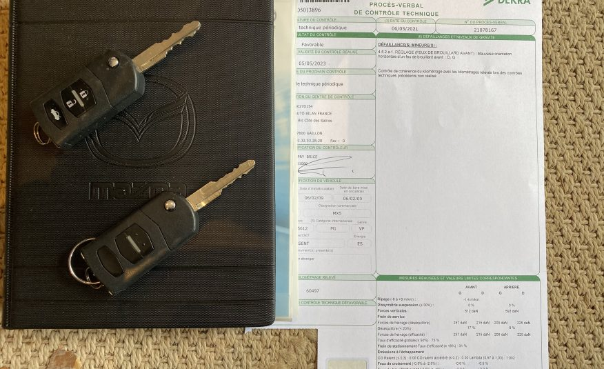 """MAZDA MX5 RC TOIT EN DUR 2.0L 160 CH """"NISEKO"""" CUIR/XENON/BOSE 1ère MAIN"""