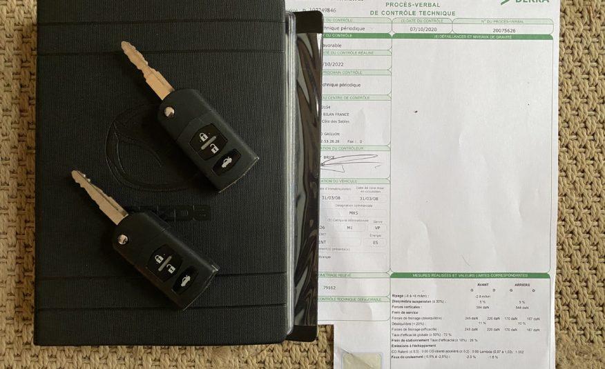 "MAZDA MX5 NC 1.8L 126 CH ROADSTER ""GALAXY GREY""ANNÉE 2008 78900 KMS"