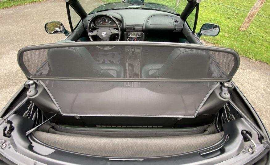 """BMW Z3 1.8L 115 CH 4 CYLINDRES VERT """"DUNKEL GRUN 2″/CUIR VERT 119900 KMS !!"""