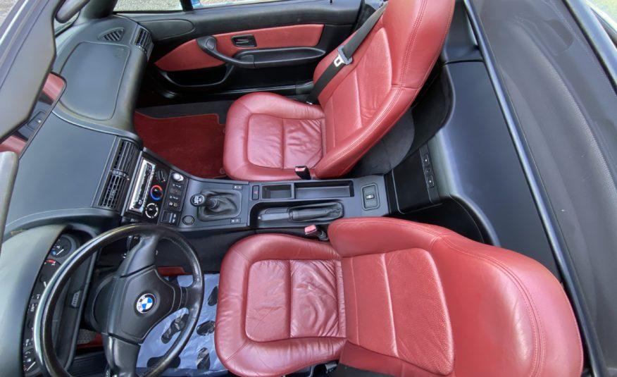 "BMW Z3 1.9 140 CH PHASE 1 ROADSTER BLEU ATLANTA ""GOLDENEYES"" CUIR BORDEAUX 70200 KMS"